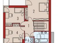 půdorys 2NP - Prodej domu v osobním vlastnictví 180 m², Malá Lhota