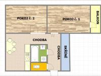 Prodej bytu 2+1 v družstevním vlastnictví 54 m², Uherský Brod