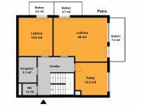 1.patro bytu (Prodej bytu 5+kk v osobním vlastnictví 155 m², Praha 10 - Michle)