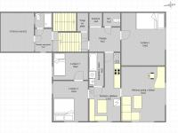 Půdorys 2.NP (Prodej domu v osobním vlastnictví 170 m², Liberec)