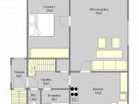 Plánek 1.NP (Prodej domu v osobním vlastnictví 75 m², Praha 9 - Vinoř)