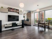 Obývací pokoj (Prodej bytu 3+kk v osobním vlastnictví 80 m², Praha 10 - Záběhlice)
