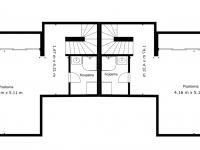 půdorys suterén (Prodej domu v osobním vlastnictví 294 m², Průhonice)