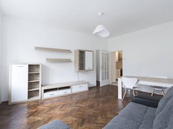 Obývací pokoj - Pronájem bytu 3+1 v osobním vlastnictví 79 m², Praha 4 - Podolí