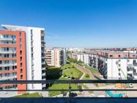 Pohled z terasy na západ - Prodej bytu 3+kk v osobním vlastnictví 94 m², Praha 9 - Letňany
