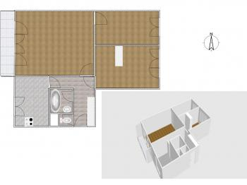 Plánek bytu - Prodej bytu 3+1 v osobním vlastnictví 66 m², Praha 3 - Žižkov