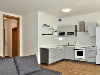 Kuchyňský kout - Pronájem bytu 1+kk v osobním vlastnictví 41 m², Praha 9 - Čakovice