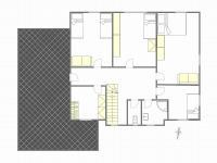 Půdorys patra domu - Prodej domu v osobním vlastnictví 199 m², Praha 4 - Šeberov