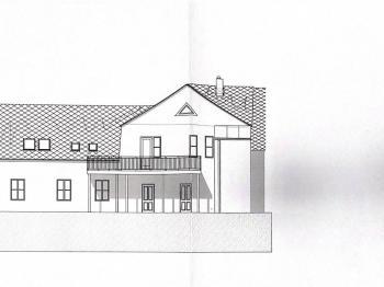 Pohled jihovýchodní  - Prodej domu v osobním vlastnictví 281 m², Sedlec-Prčice