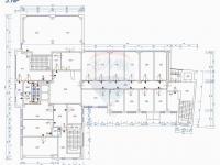půdorys podlaží (Pronájem kancelářských prostor 600 m², Prostějov)