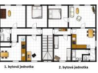 2.NP - nákres (Prodej komerčního objektu 620 m², Dymokury)