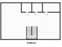 podkroví - nákres (Prodej komerčního objektu 620 m², Dymokury)