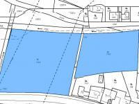 grafická mapa - Prodej pozemku 13051 m², Praha 9 - Běchovice