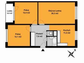 Prodej bytu 3+1 v osobním vlastnictví 73 m², Praha 4 - Libuš