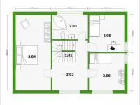 půdorys 2NP - Prodej domu v osobním vlastnictví 143 m², Milovice