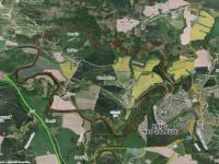 Letecká mapa oblasti (Prodej pozemku 21700 m², Chabeřice)