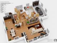 Půdorys 1. NP (Prodej domu v osobním vlastnictví 227 m², Třebotov)