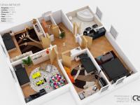 Půdorys 2. NP (Prodej domu v osobním vlastnictví 227 m², Třebotov)
