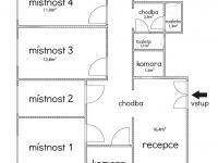 Půdorys - orientační (Pronájem kancelářských prostor 85 m², Praha 1 - Staré Město)