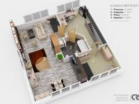 2. nadzemní podlaží (Prodej domu v osobním vlastnictví 270 m², Praha 4 - Hodkovičky)