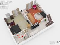 Částečně zapuštěné podlaží (Prodej domu v osobním vlastnictví 270 m², Praha 4 - Hodkovičky)