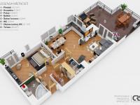 orientační plán bytu (Prodej bytu 2+kk v osobním vlastnictví 132 m², Praha 10 - Záběhlice)
