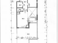 půdorys bytu s rozměry (Prodej bytu 2+kk v osobním vlastnictví 132 m², Praha 10 - Záběhlice)
