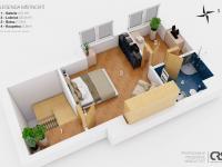 Půdorys 5. NP (Prodej bytu 4+kk v osobním vlastnictví 153 m², Praha 9 - Hloubětín)