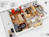 Půdorys 4. NP (Prodej bytu 4+kk v osobním vlastnictví 153 m², Praha 9 - Hloubětín)