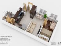 Plánek bytu (Prodej bytu 2+kk v osobním vlastnictví 29 m², Brno)