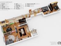 Plánek nemovitosti (Prodej domu v osobním vlastnictví 162 m², Brno)