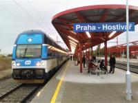 Vlakové nádraží Praha - Hostivař, 1 km od domu (Prodej bytu 2+kk v osobním vlastnictví 35 m², Praha 10 - Hostivař)