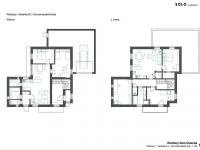 návrh řešení domu 2x byt 2 - Prodej domu v osobním vlastnictví 285 m², Praha 8 - Dolní Chabry