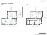návrh řešení domu 2x byt 1 - Prodej domu v osobním vlastnictví 285 m², Praha 8 - Dolní Chabry