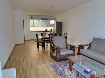 Obývací pokoj - Pronájem bytu 3+kk v osobním vlastnictví 116 m², Praha 3 - Strašnice