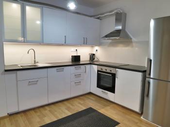 Kuchyňský kout - Pronájem bytu 3+kk v osobním vlastnictví 116 m², Praha 3 - Strašnice