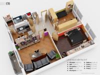 Plánek bytu (Prodej bytu 3+1 v osobním vlastnictví 83 m², Čebín)