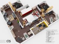 3D plánek bytu (Prodej bytu 4+kk v osobním vlastnictví 173 m², Praha 5 - Smíchov)
