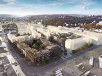 Smíchov City - budoucí stav (Prodej bytu 4+kk v osobním vlastnictví 173 m², Praha 5 - Smíchov)