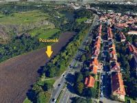 3D letecký snímek (Prodej pozemku 10936 m², Praha 6 - Liboc)