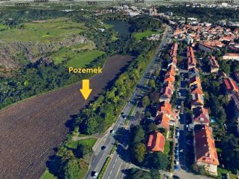 3D letecký snímek - Prodej pozemku 10936 m², Praha 6 - Liboc
