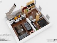 Půdorys 2.NP (Prodej domu v osobním vlastnictví 166 m², Brno)