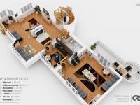 Půdorys 1. NP Vila Klánovice, na prodej, Tomáš Valtera, RE/MAX Alfa (Prodej domu v osobním vlastnictví 450 m², Praha 9 - Klánovice)