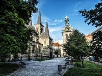 Kostel svatého Petra, 300 m od domu - Prodej bytu 1+kk v osobním vlastnictví 27 m², Praha 1 - Nové Město