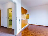 Pohled do chodby z obývacího pokoje (Prodej bytu 1+kk v osobním vlastnictví 33 m², Hostivice)