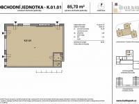 Pronájem komerčního objektu 86 m², Praha 8 - Karlín
