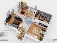 2. nadzemní podlaží (Prodej domu v osobním vlastnictví 222 m², Suchomasty)