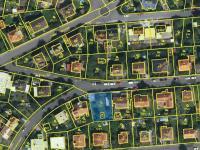 Vyznačení pozemku (viz modře) (Prodej pozemku 545 m², Praha 9 - Kyje)