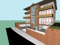 Studie na výstavbu činžovního domu (Prodej pozemku 545 m², Praha 9 - Kyje)