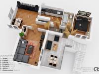 Půdorys 1. patra (Prodej domu v osobním vlastnictví 114 m², Mukařov)
